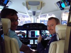 In the cockpit at NBAA 2015