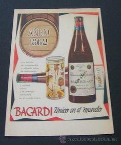 1957 PUBLICIDAD DE RON BACARDI ANUNCIO ORIGINAL DE PRENSA