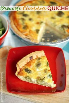SUPER EASY Broccoli Cheddar Quiche for any meal: breakfast, brunch, lunch, or dinner!