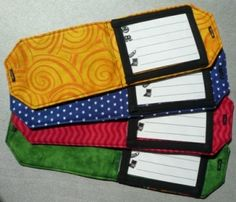 DIY luggage tags only with cuter fabric