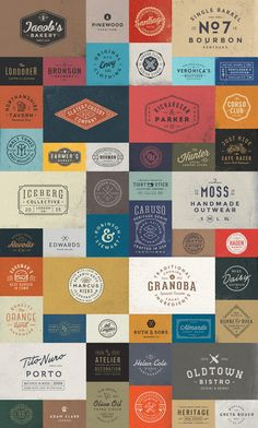 A huge bundle of 50 stylish vintage logo templates. This extensive bundle includes 5 packs of vintage logo templates. Instead of $60 regular price, with th