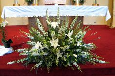Church Flower Arrangement Decorating For Weddings Images