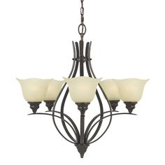 Home Solutions by Feiss F2055/5GBZ Morningside 5 Light Chandelier