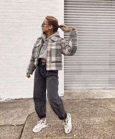 Trendy Fall Outfits, Edgy Outfits, Casual Winter Outfits, Winter Fashion Outfits, Retro Outfits, Flannel Outfits, Vintage Outfits, Skater Girl Outfits, Vetement Fashion
