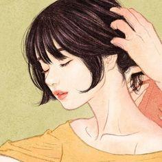 Intimate illustrations by Zipcy Couple Drawings, Love Drawings, Art Drawings, Korean Illustration, Illustration Art, Cute Couple Art, Digital Art Girl, Cartoon Art Styles, Anime Art Girl
