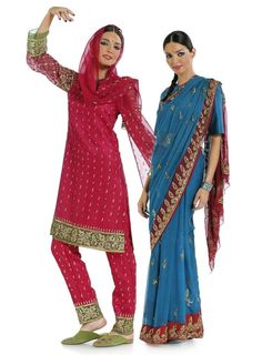 Burda 7701 Sari Indien, tailles 34 à 46