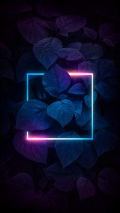 Neon Nature Dark - iPhone Wallpapers