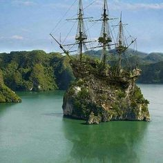 Caribbean Creepy abandoned tall ship,that looks like an island more than a ship.Creepy abandoned tall ship,that looks like an island more than a ship. Abandoned Mansions, Abandoned Buildings, Abandoned Places, Abandoned Malls, Abandoned Castles, Tall Ships, Abandoned Ships, Abandoned Train, Abandoned Warehouse