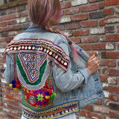 Embellished Denim Banjara Jacket
