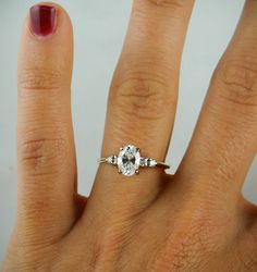 RESERVED Gorgeous Vintage Oval Cut Diamond by MSJewelers on Etsy
