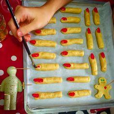 Cadı parmağı kurabiyesi / witch fingers cookie  Halloween
