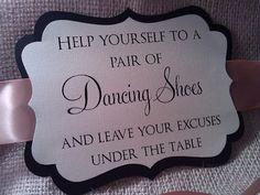 Ornate Wedding Sign - For Your Flip Flop Basket - Dancing Shoes Wedding Signs, Wedding Bells, Diy Wedding, Wedding Favors, Wedding Reception, Wedding Flowers, Wedding Venues, Dream Wedding, Wedding Decorations