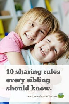 When it feels like you have to referee a sibling fight every time you turn around, you NEED this list! Follow these guidelines for parents and kids to avoid sibling fighting when it comes to sharing toys and more.