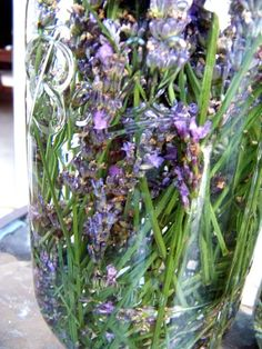 Lavender infused vinegar for cleaning. Gotta try this.