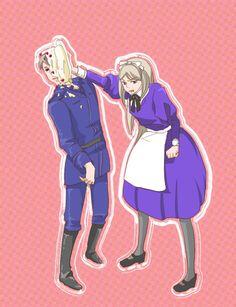 Belarus and Prussia: Pie Face Hetalia, Fandom, Prussia, Otp, Anime, Fictional Characters, Face, Denmark, Cartoon Movies