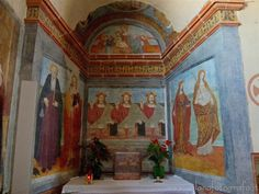 Benna (Biella, Italy) - Fresco of the trinity in the Church of San Pietro
