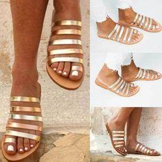 Spring Summer Women's sandalias Fashion Ladies Flat Heel Strap Women shoes Leisure Beach Sandals Roman Shoes zapatos de mujer Boho Sandals, Sandals Outfit, Flat Sandals, Shoes Sandals, Summer Sandals, Simple Sandals, Beach Sandals, Boho Shoes, Strappy Shoes
