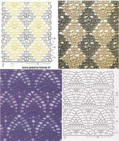 tejidos de punto y ollas de Farah: patrones de puntada de ganchillo