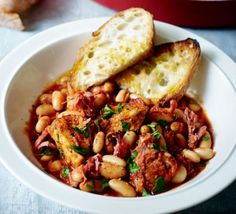 Smoky pork & Boston beans one-pot