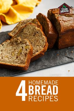 Making bread from scratch may sound intimidating, but it's easier than you think! Get inspiration with these four homemade bread recipes to make while spending more time at home. Easy Baking Recipes, Cooking Recipes, Coconut Banana Bread, Coconut Milk, Bread Machine Recipes, Banana Bread Recipes, Dessert Recipes, Desserts, Food To Make