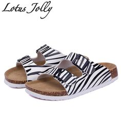 d1050e076cd2 Lotus Jolly 2017 Women Slides Cork Slippers Sandals Casual Shoes Double  Buckle Clogs Sandalias Flip Flops Flats Plus Size35 43-in Slippers from  Shoes on ...