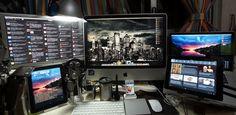ChrisData's Workstation. Me encanta como tiene todo colocado, aunque igual un poco saturado