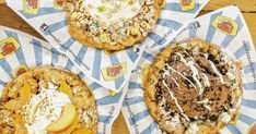 This Toronto Cafe Serves Massive Funnel Cakes In The Craziest Flavours featured image Toronto Cafe, Cake Flavors, Funnel Cakes, Treats, Carnival, Real Estate, Food, Image, Sweet Like Candy