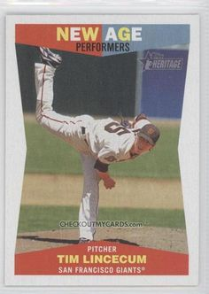 2009 Topps Heritage New Age Performers #NAP6 - Tim Lincecum