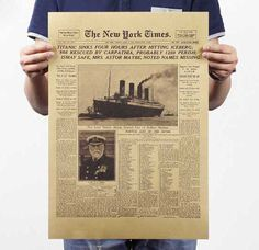 Like and Share if you want this  The New York times, the Titanic sank headlines, vintage Wall posters     Tag a friend who would love this!     FREE Shipping Worldwide     Buy one here---> https://ihappyshop.com/the-new-york-times-the-titanic-sank-headlines-vintage-posters-wall-stickers-movie-posters/