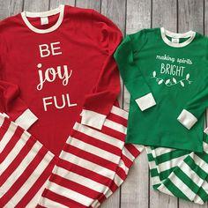 Christmas Pajamas - Adult With Be Joyful Design