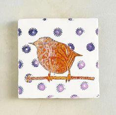 Hand painted tile  (Sundance catalog)