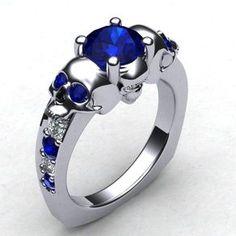 The Original With This Skull Ring- Ladies by Paul Bierker