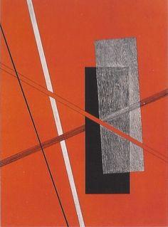 László Moholy-Nagy Construction Lithographie / Lithograph 29.3 x 25 cm