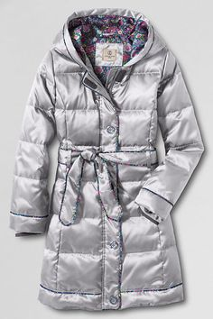 Liv's coat this year.  She loves long coats. <3   Girls' Fashion Down Coat from Lands' End
