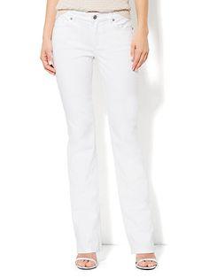 Curvy Bootcut Jean - Optic White - Petite - New York & Company