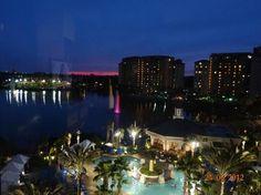 Wyndham Grand Orlando Resort Bonnet Creek: Sunset over Wyndham Grand - Stunning views!