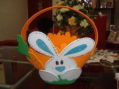 Mis manualidades: canastita con conejo de pascua