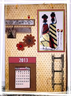 calendrier pour un challenge solidaire sur give your scrap