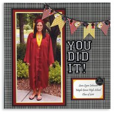 scrapbooking graduation cards | graduation banner scrapbook layout
