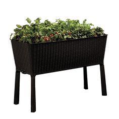 Keter Easy Grow Brown Patio Garden Flower Plant Planter Raised Elevated Garden Bed (Brown) (Plastic) #212157