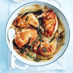 tarragon and lemon roasted chicken DONNA HAY Ways To Cook Chicken, Roast Chicken Recipes, Chicken Thigh Recipes, Lemon Roasted Chicken, Tarragon Chicken, Roasted Fennel, Donna Hay Recipes, Cooking Recipes, Healthy Recipes