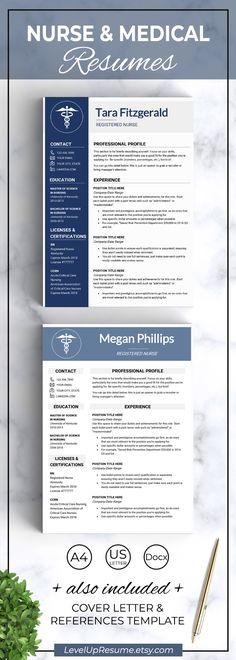 Nursing RESUME Template / MS Word Nursing resume template, Nursing