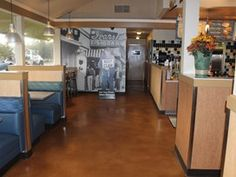 Acid stained floor, featured on 10/18/13, NW Coatings & Concrete in Snohomish, WA.