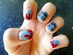 The Walking Dead Halloween Themed Easy Nail Art Tutorial HeyHar