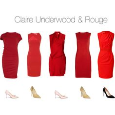Claire Underwood & Red by oliviapope411 on Polyvore featuring Lanvin, Giambattista Valli, Helmut Lang, Roberto Cavalli, Versace, Manolo Blahnik, Jimmy Choo and Valentino