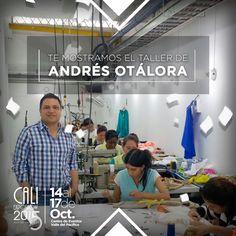 Entramos al taller de Andrés Otálora, lugar donde se hace realidad Glamping, colección que presentará el miércoles 14 de Octubre a las 8:30 p.m. en la Pasarela Inaugural RCN T.V. de #CaliExposhow
