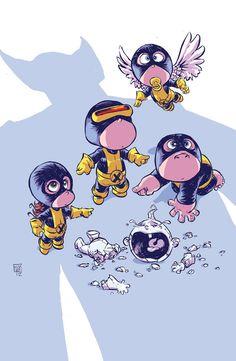 Os Vingadores e X-Men - baby - Skottie Young