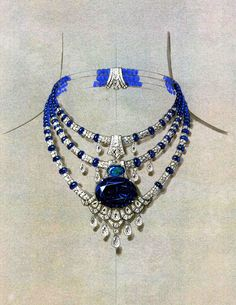 Dessin de collier Cartier