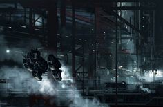 concept ships: STRIKE VECTOR concept art by Paul Chadeisson