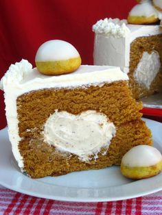 Browned Butter Pumpkin cake with White Chocolate Chai Mousse